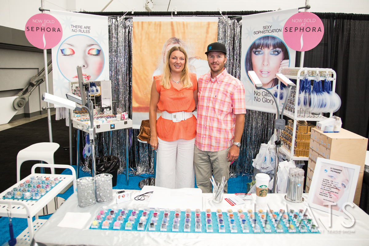 Jodie and James at Lit Cosmetics Booth