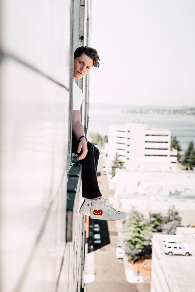 Casually dangling out a window, its fine