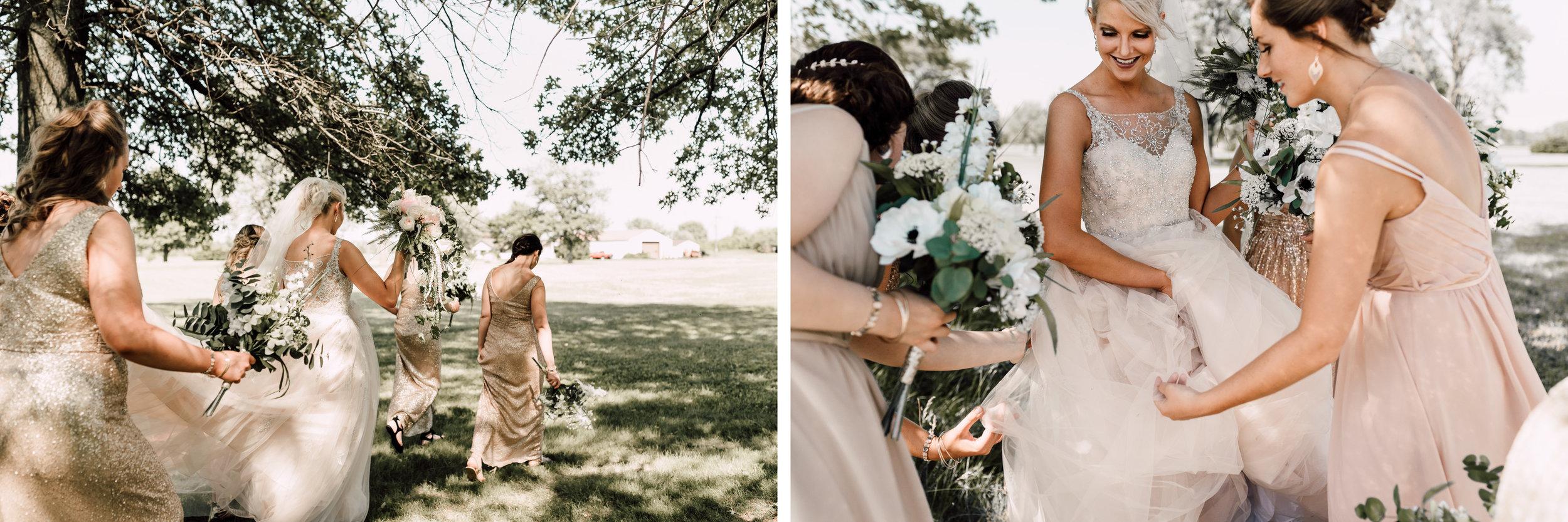 bridal portraits, bridesmaid dress ideas