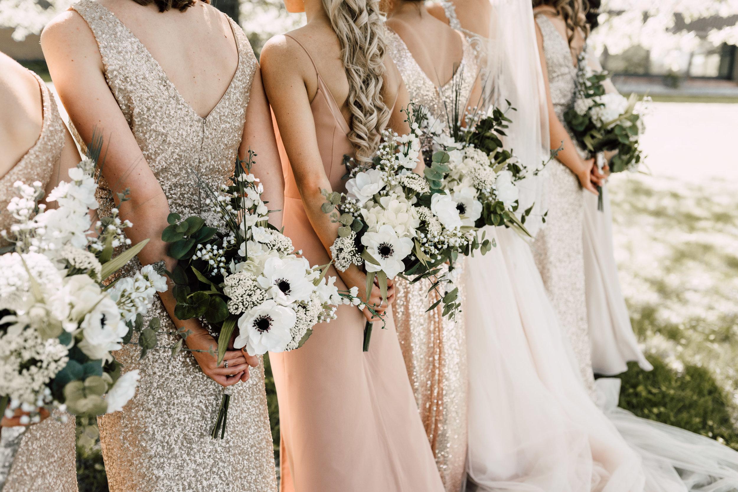 bridesmaid floral ideas, wedding day floral ideas