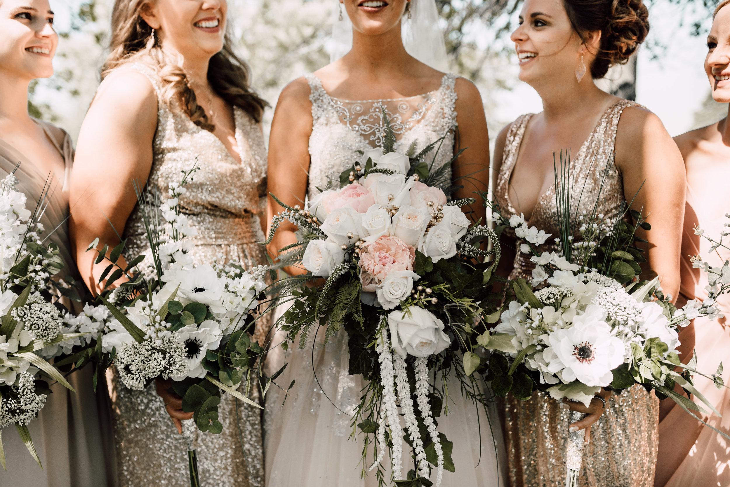 fun wedding day ideas, bridesmaid photo ideas