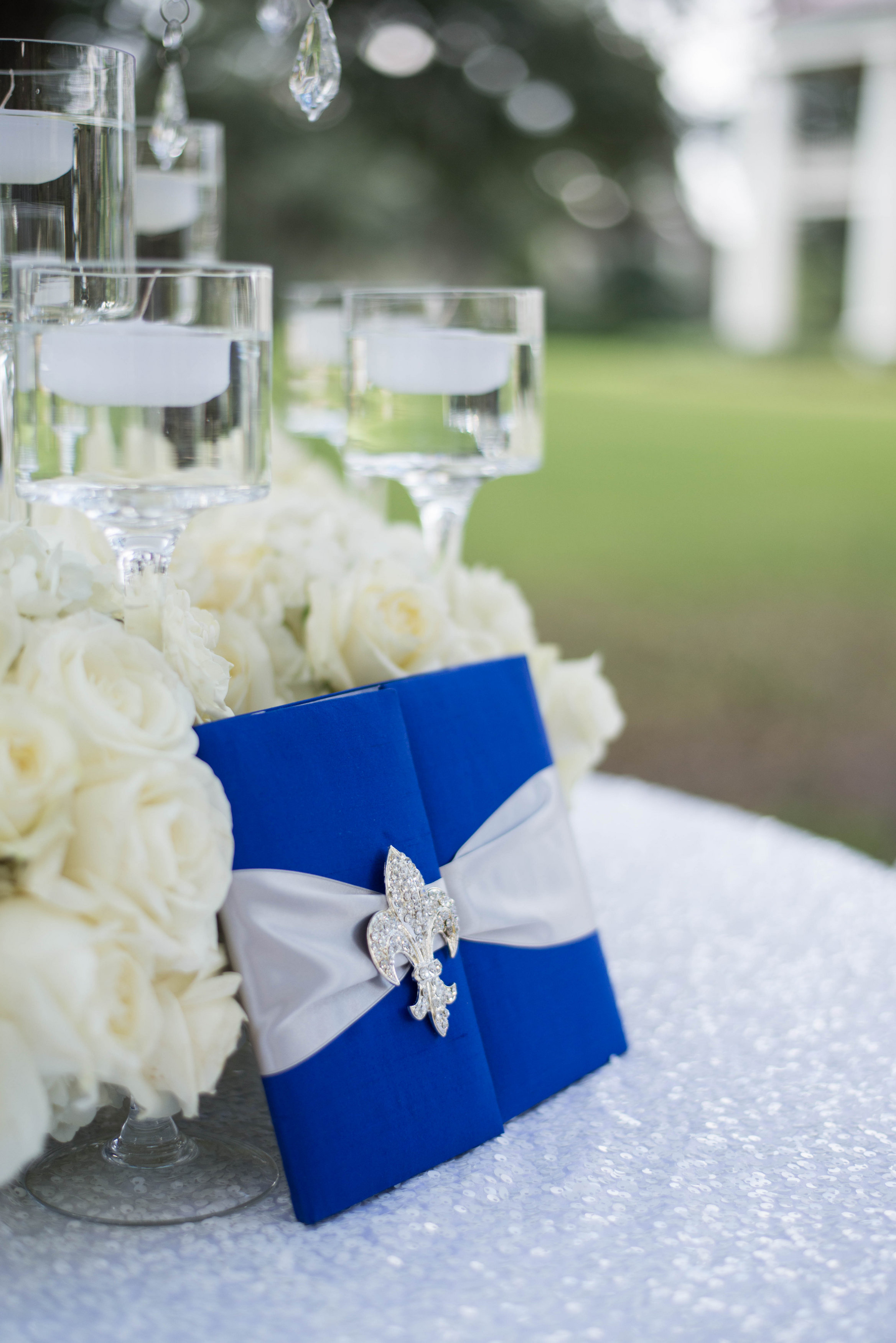 BRW - Invitation with Fleur De Lis Crystal - Partee Wedding - Bobbi Rice Weddings - Heather Grimm Photography.jpg