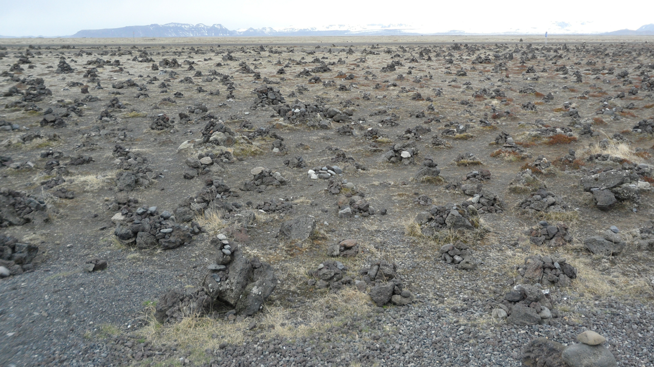 We saw some places in Iceland where cairns were prohibited. Here, they were not only allowed but encouraged.