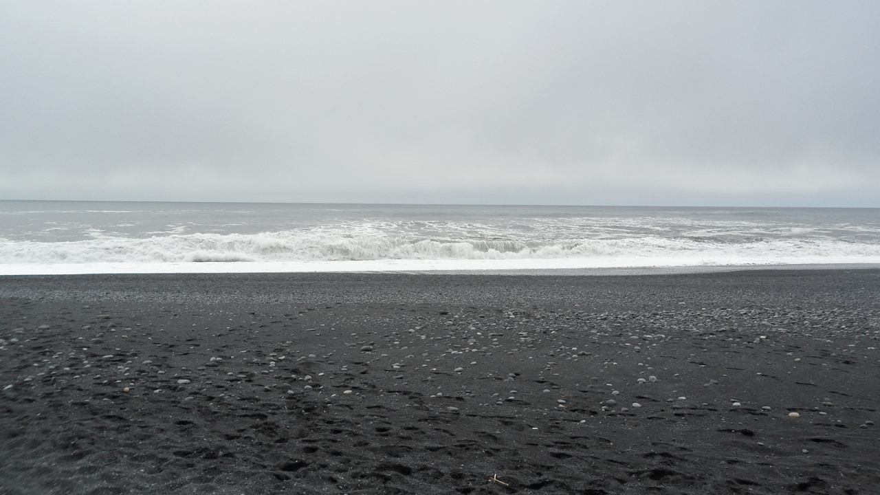 Next: The black sand beach.