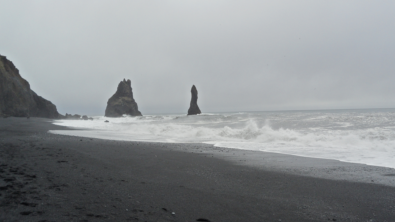 We had a list of formations and sites to see along the black sand beach. This, I think, is Reynisdrangur