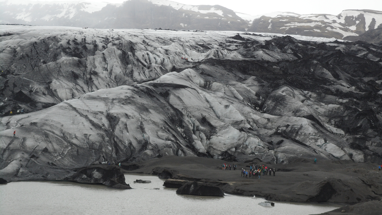 "The glacier is a very easy walk from a cafe, where we had minestrone for lunch. (The cafe also had some very disappointing posters of the sheep, cow, horse, etc., breeds of Iceland. ""Breeds"" on the posters really meant ""colors."")"