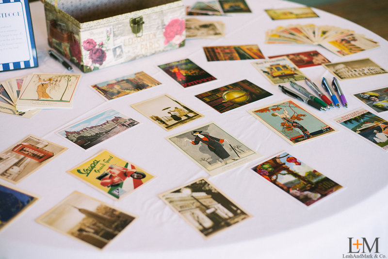 The guestbook: postcards!