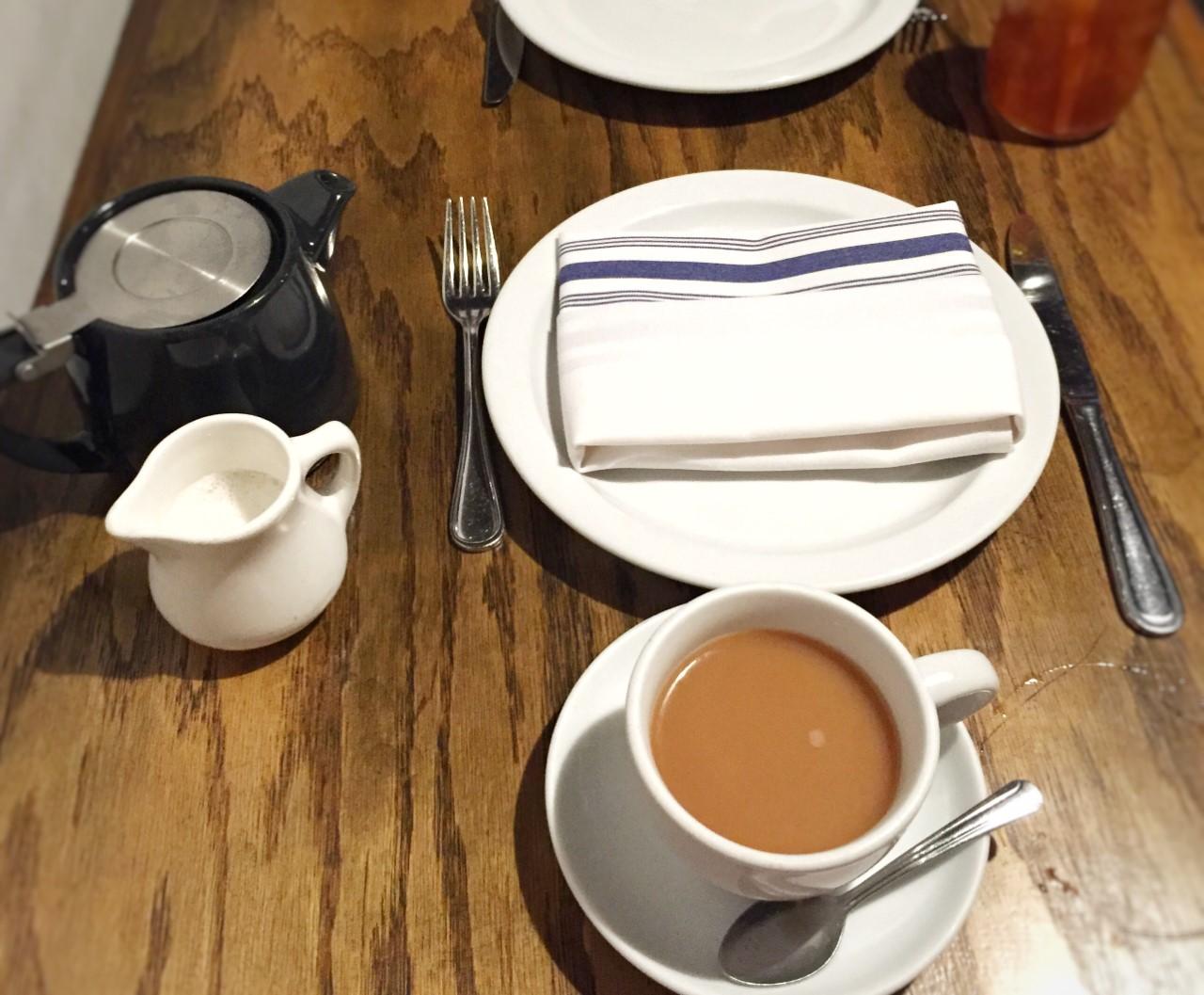 Kali's Chai black tea + almond milk