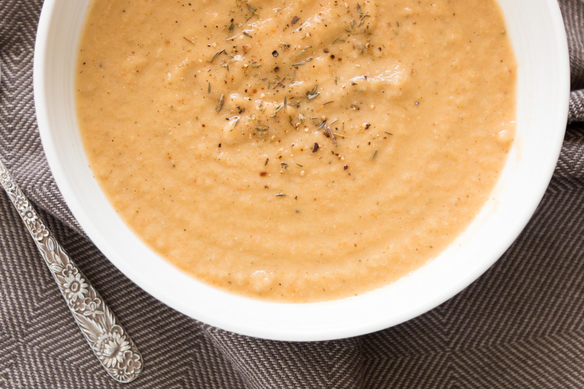 Sopa de Colifor y Chirivia