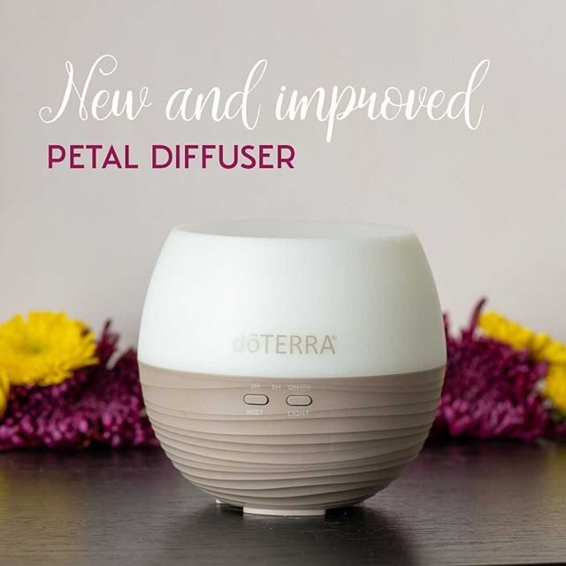 We are excited to announce the release of our new #doTERRA® #Petal #diffuser! * 2 & 6 hour continuous, and 12 hour intermittent (5 min. on, 5 min. off) diffuser settings * Optional lighting settings: Nightlight or light-free! (goes 100% dark) * Ultra-fine mist reaches up to 330 sq. ft. We can't wait for you to enjoy this new diffuser! Get yours today! #doterraessentialoils #petaldiffuser