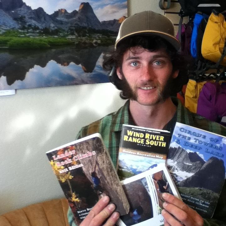 Morgan displays a few of the popular titles we carry.