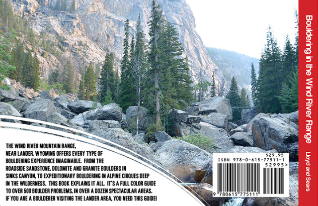 Bouldering in the Wind River Range  back cover