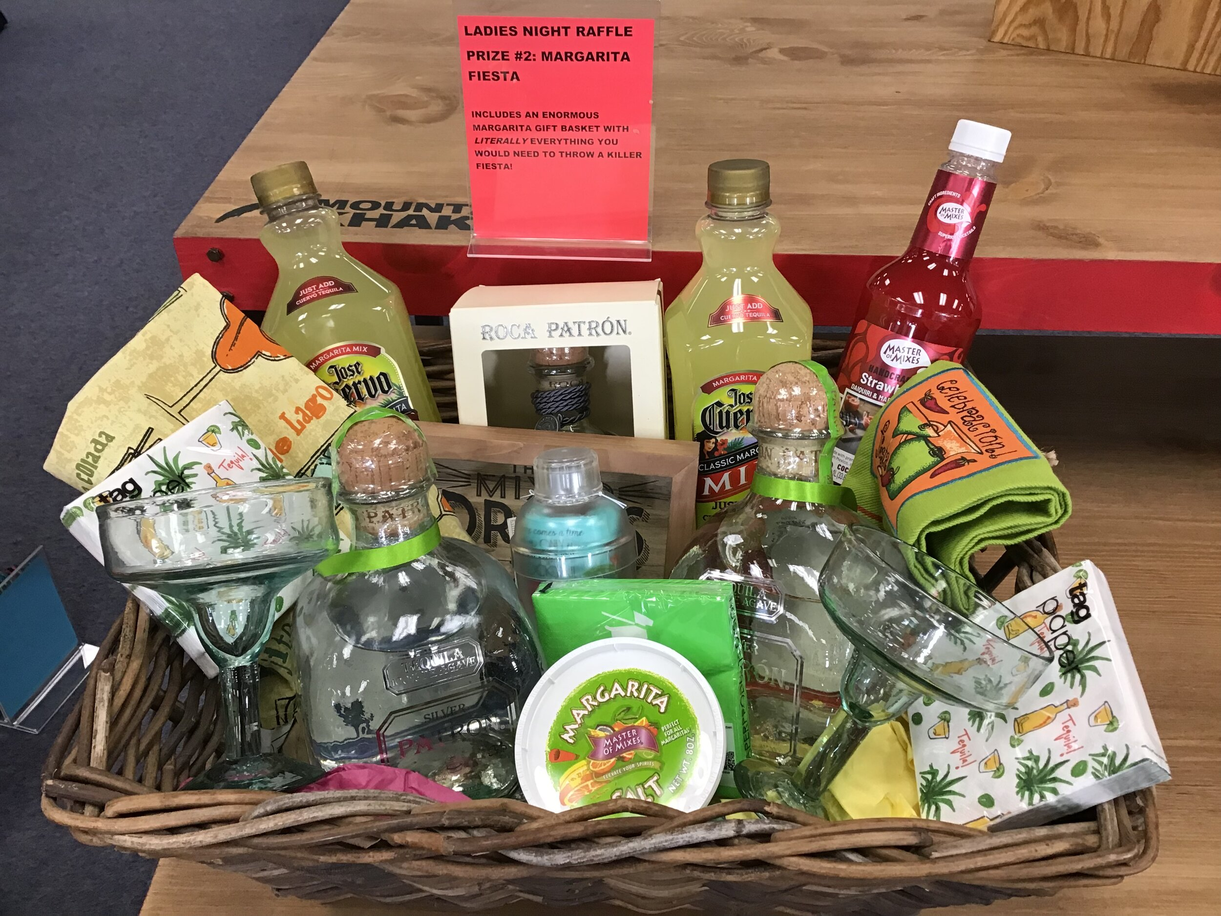 RAFFLE PRIZE #2 - Margarita Fiesta - Everything you need to make a Margarita Fiesta!* Must be 21 or older to win this prize* Winner must pick up in person with valid photo ID that matches the winning raffle ticket