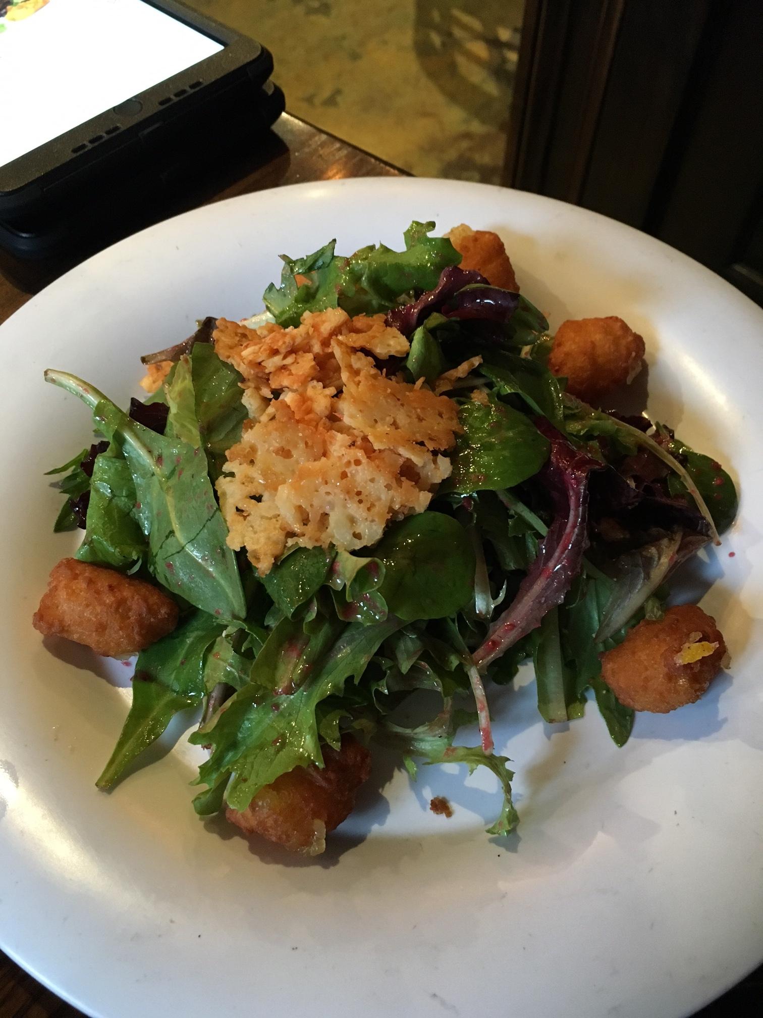 Corn Fritter Salad $8