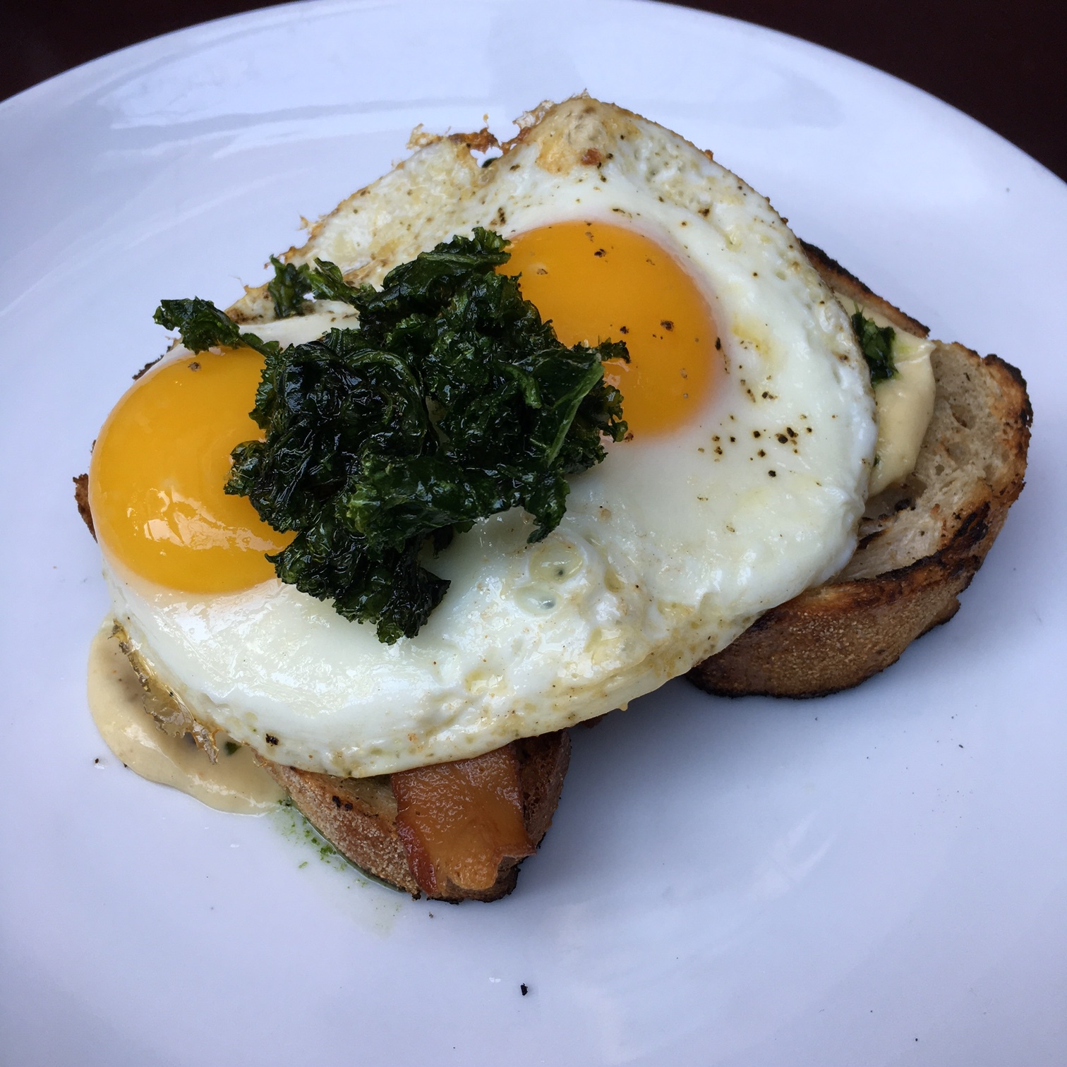 Kale Toasts $13
