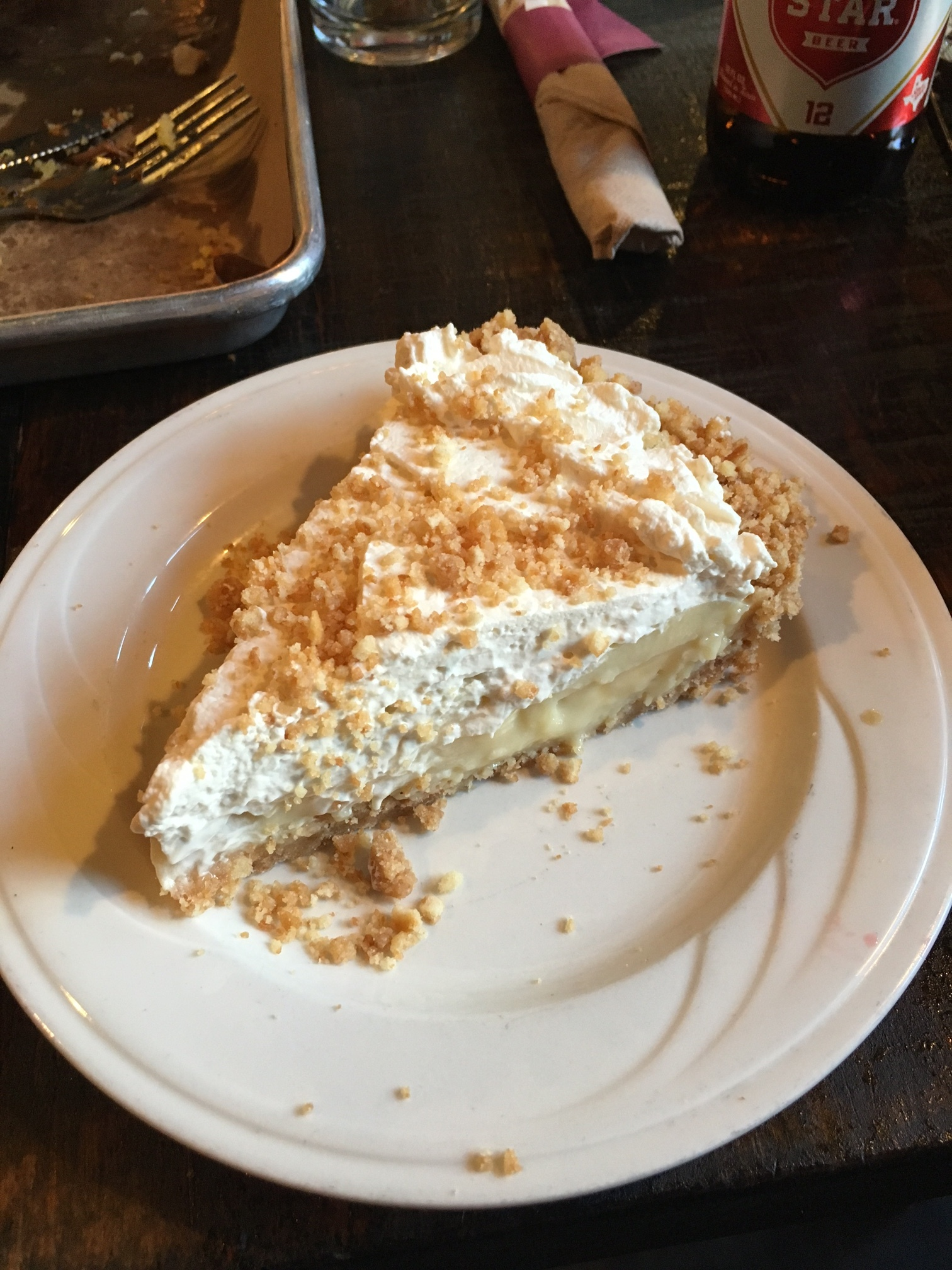 Banana Bourbon Cream Pie $8