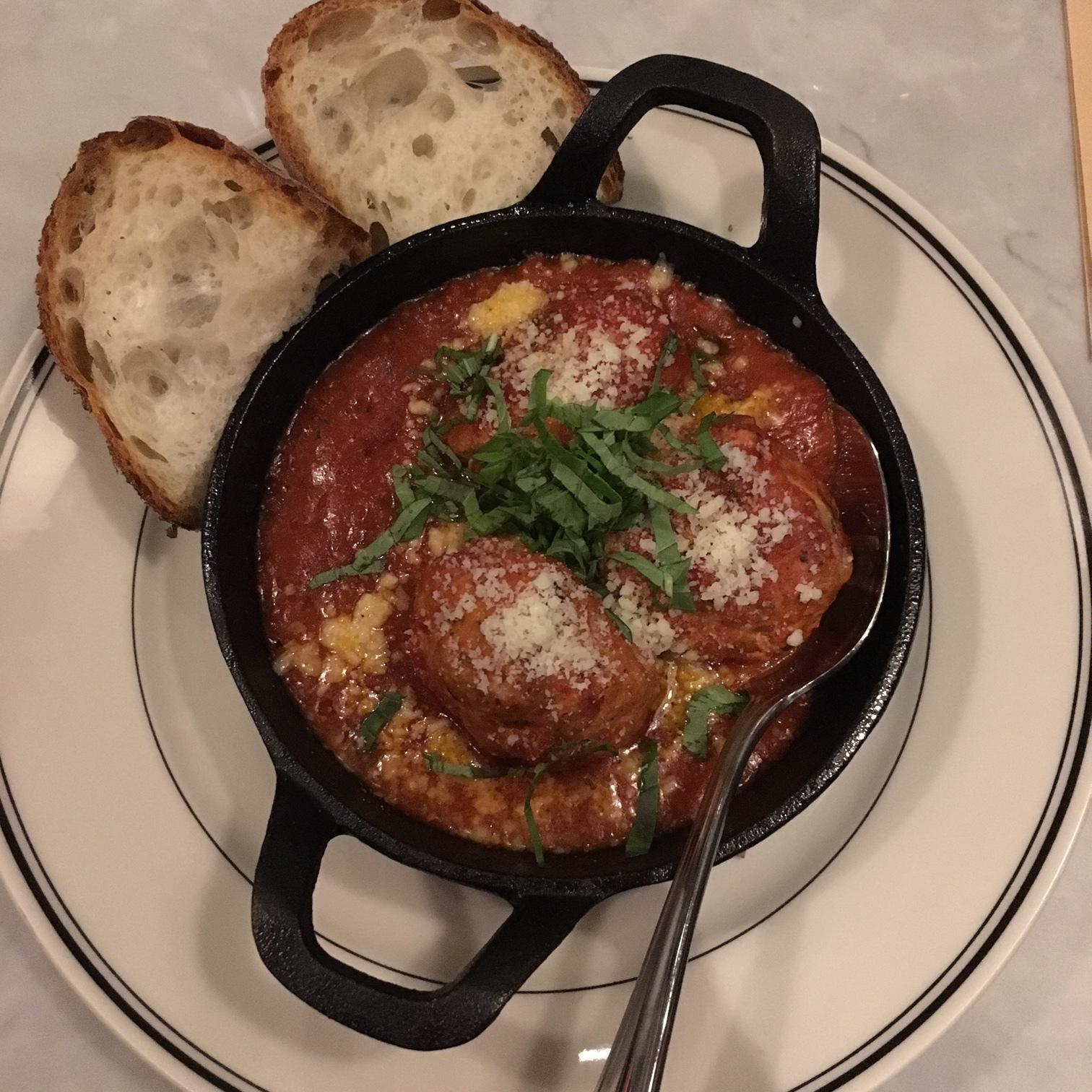 Veal Pancetta Meatballs $12