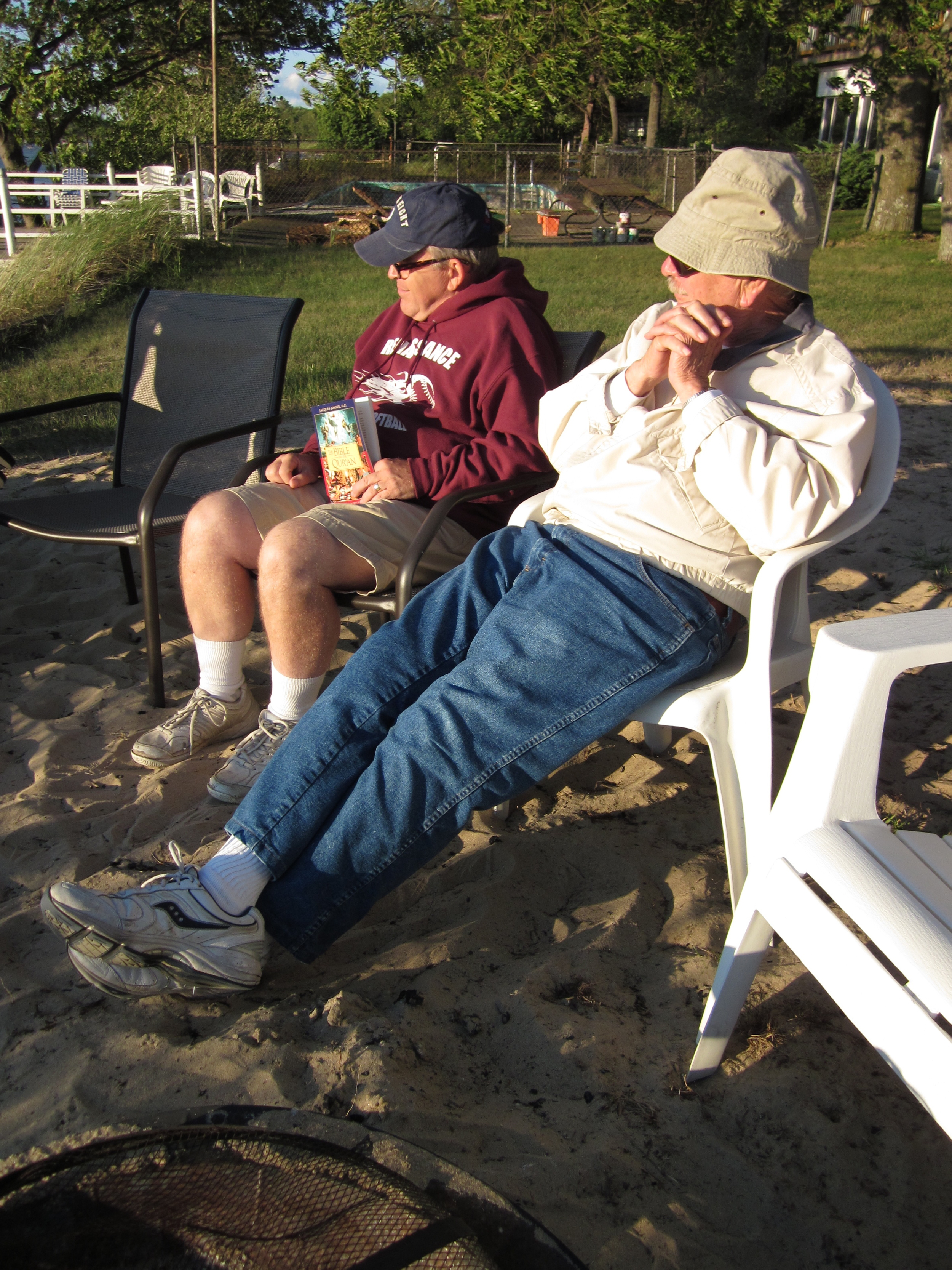 The author with son-in-law Dave on Lake Huron.jpg