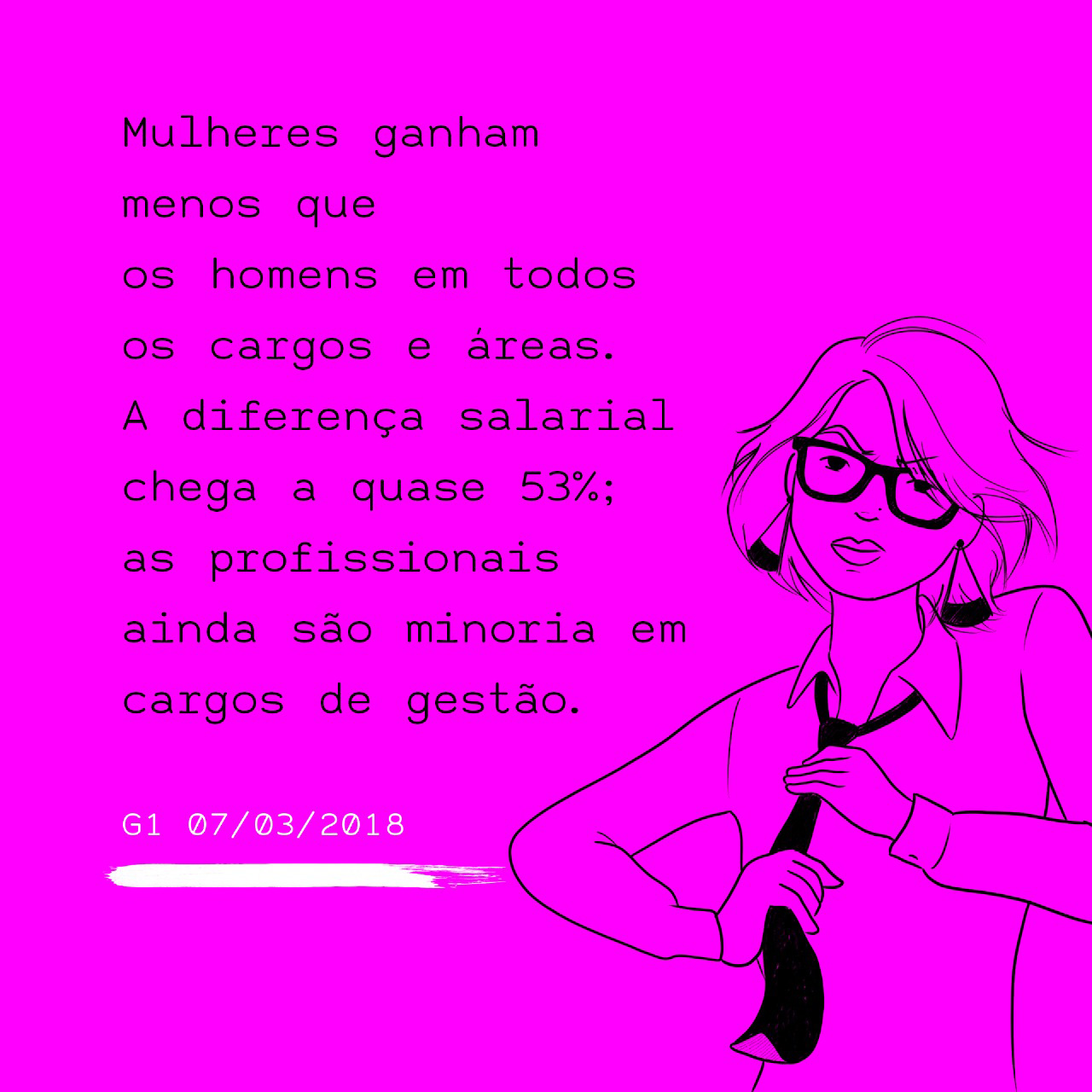 """""""Women earn less than men in every role and industry in Brazil. The difference among salaries go up to 53%; women are still a minority among leading roles."""""""
