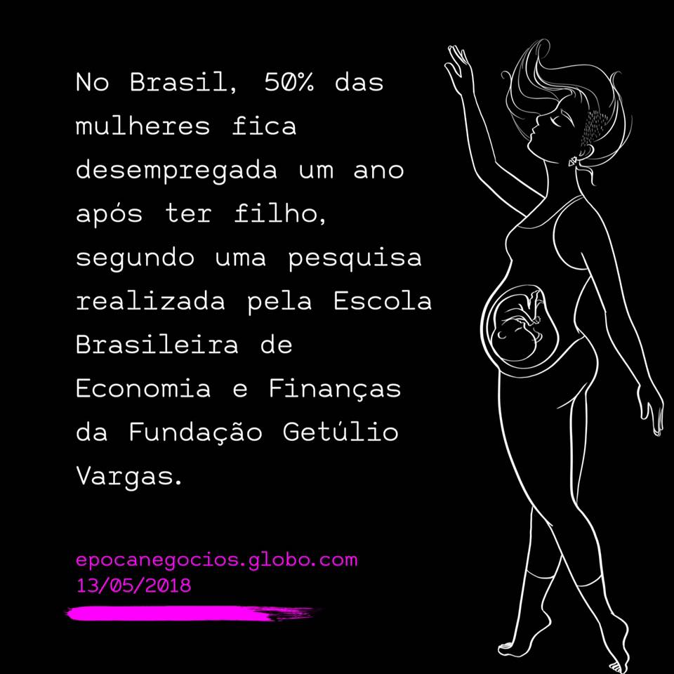 """""""In Brazil, 50% of women become unemployed one year after having a child. The research was done by FGV's Brazilian School of Economy and Finance."""""""