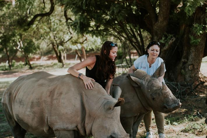 Shannon with Jana Pretorius at the Rhino Pride Foundation