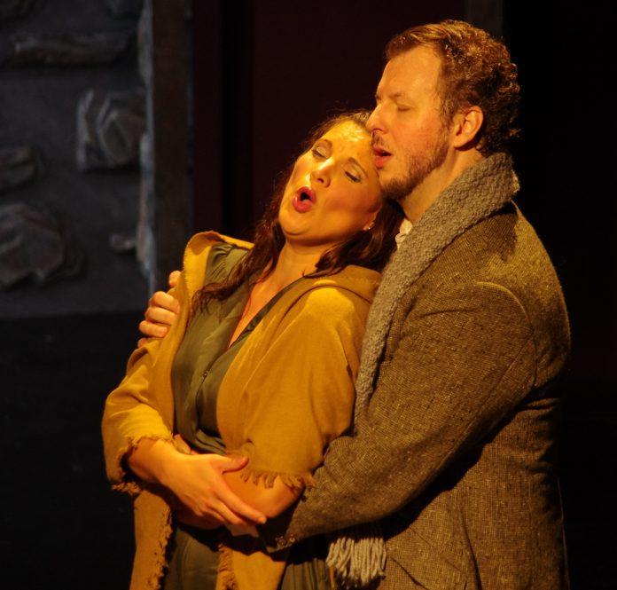 Shantelle Przybylo (Mimì) and Sebastian Haboczki (Rodolfo) in Highlands Opera Studio's La Bohème. Photo: John Martens