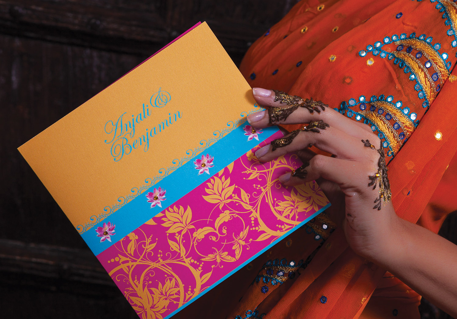 Hindu Wedding Invitations by Ananya