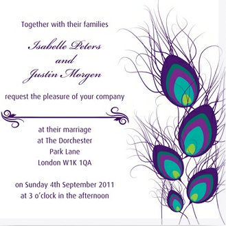 Wedding invitation by Ananya