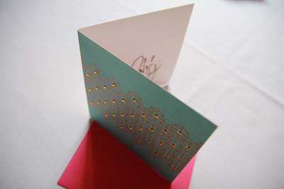 Nina Wadia signed Ananya greeting card