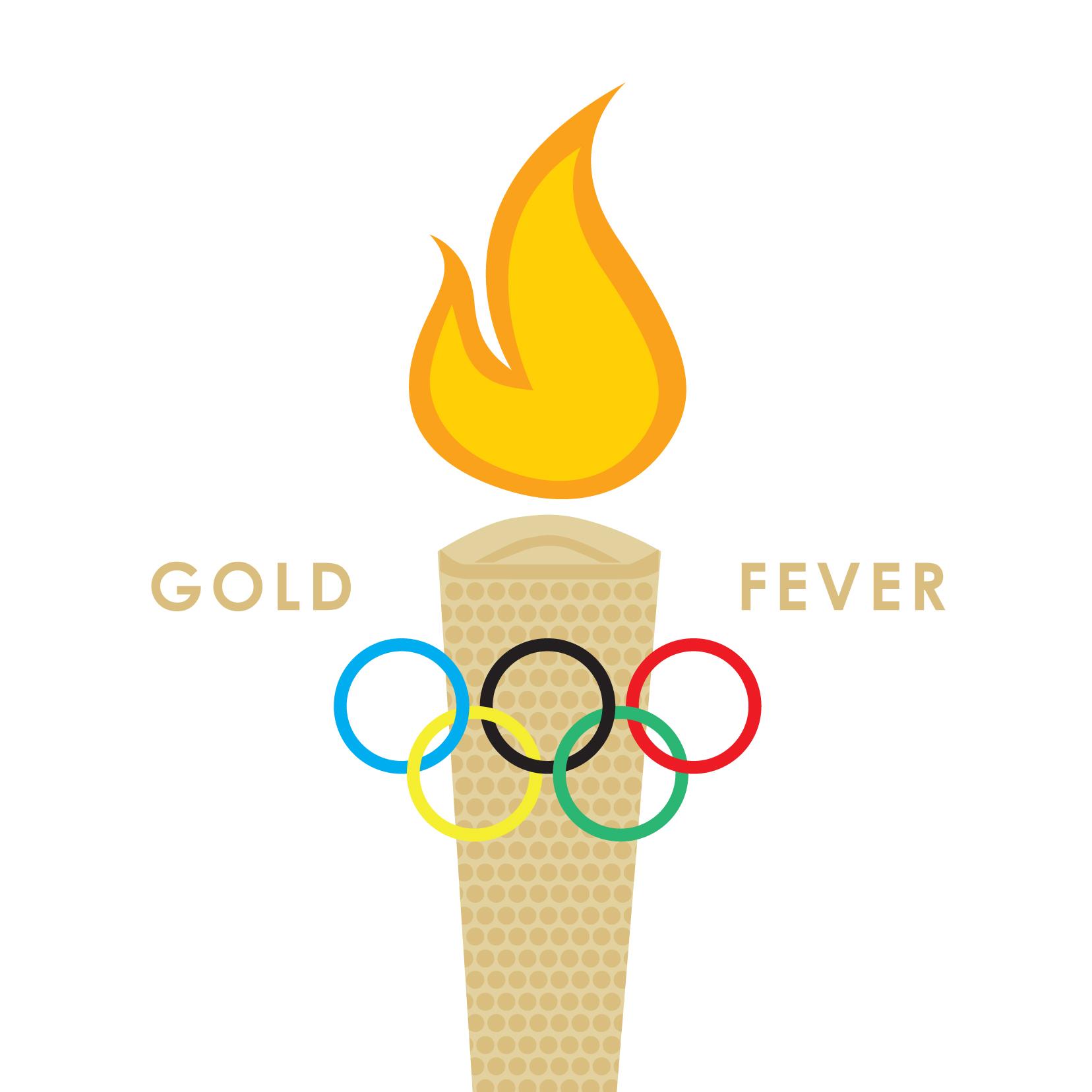 Striking Gold greeting card by Ananya