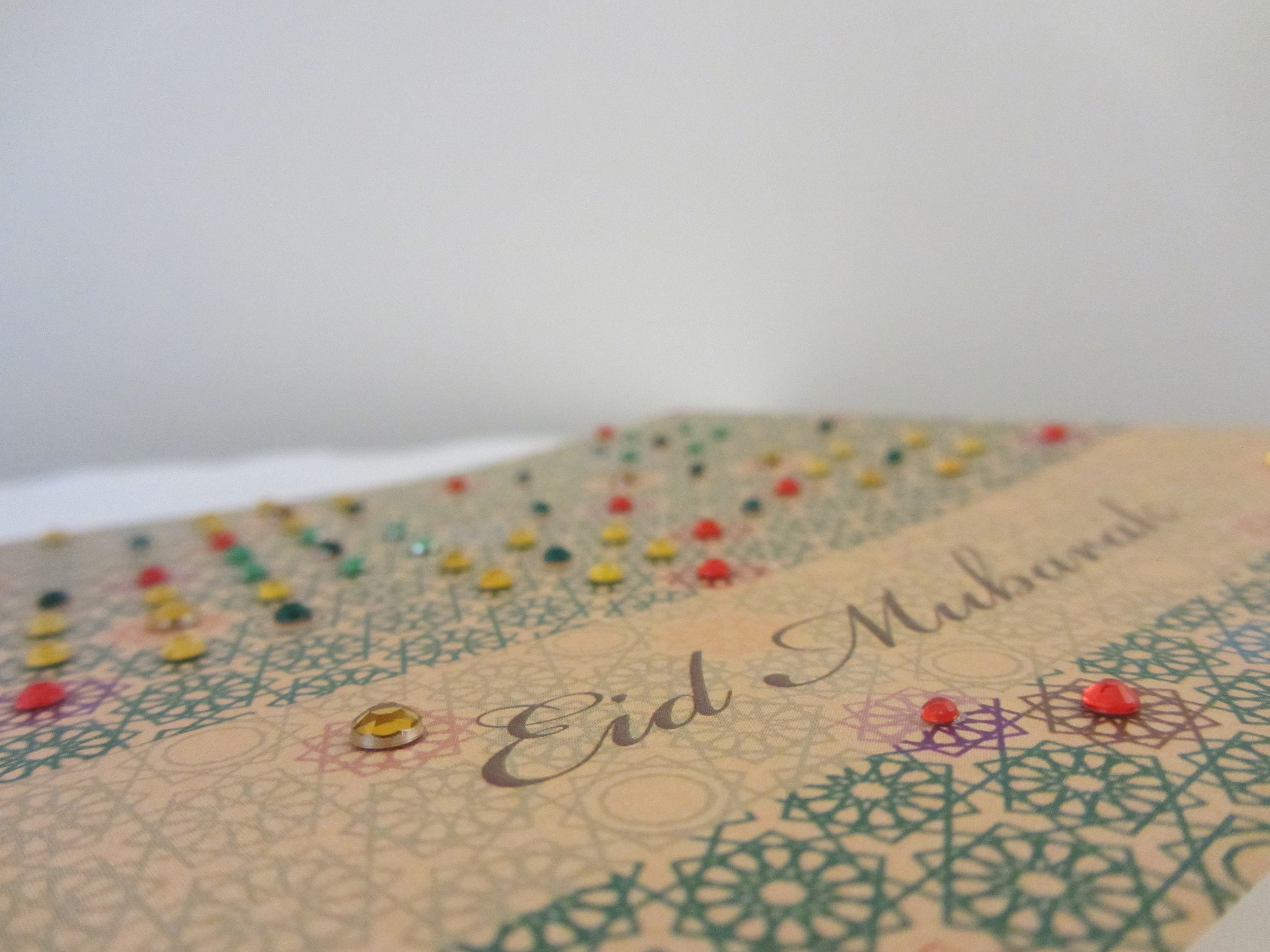 Crystal embellished 'Geometric Glamour' Eid greeting card by Ananya