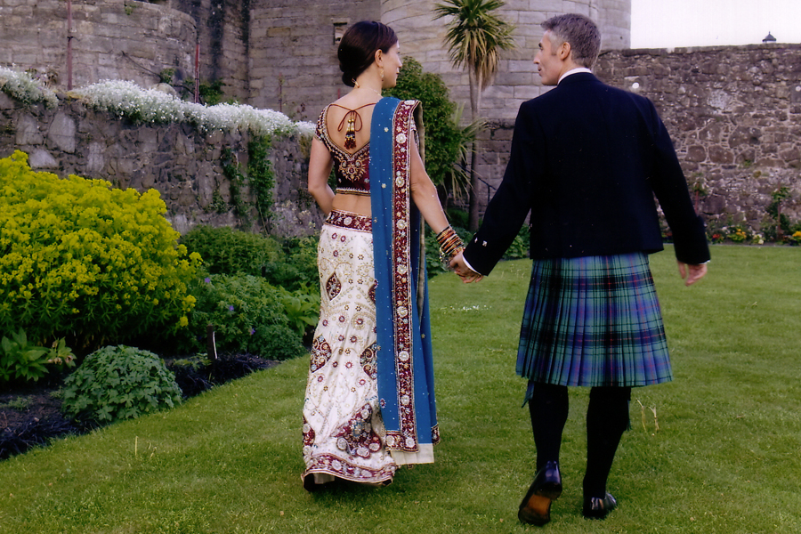 Indian Scottish wedding