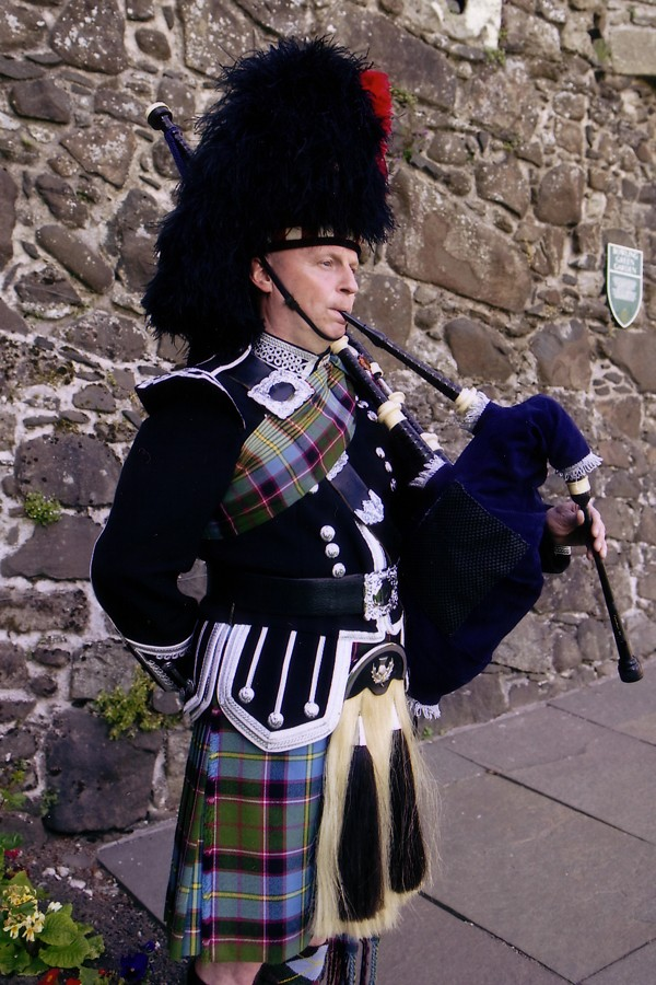 Scottish piper at Stirling Castle