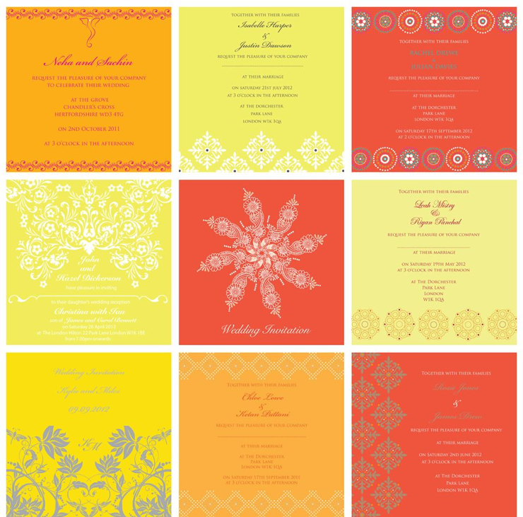 Orange and yellow moodboards by Ananya Cards