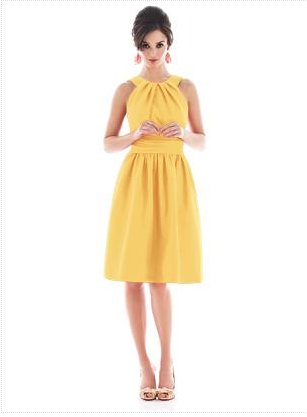 yellow bridesmaid dress by Dessy