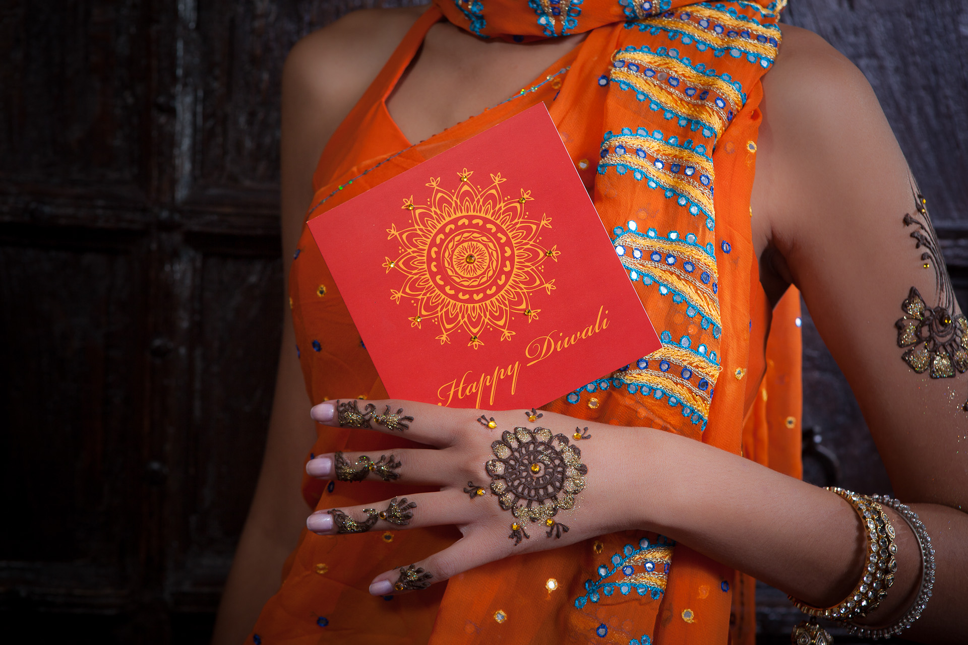 Diwali card by Ananya