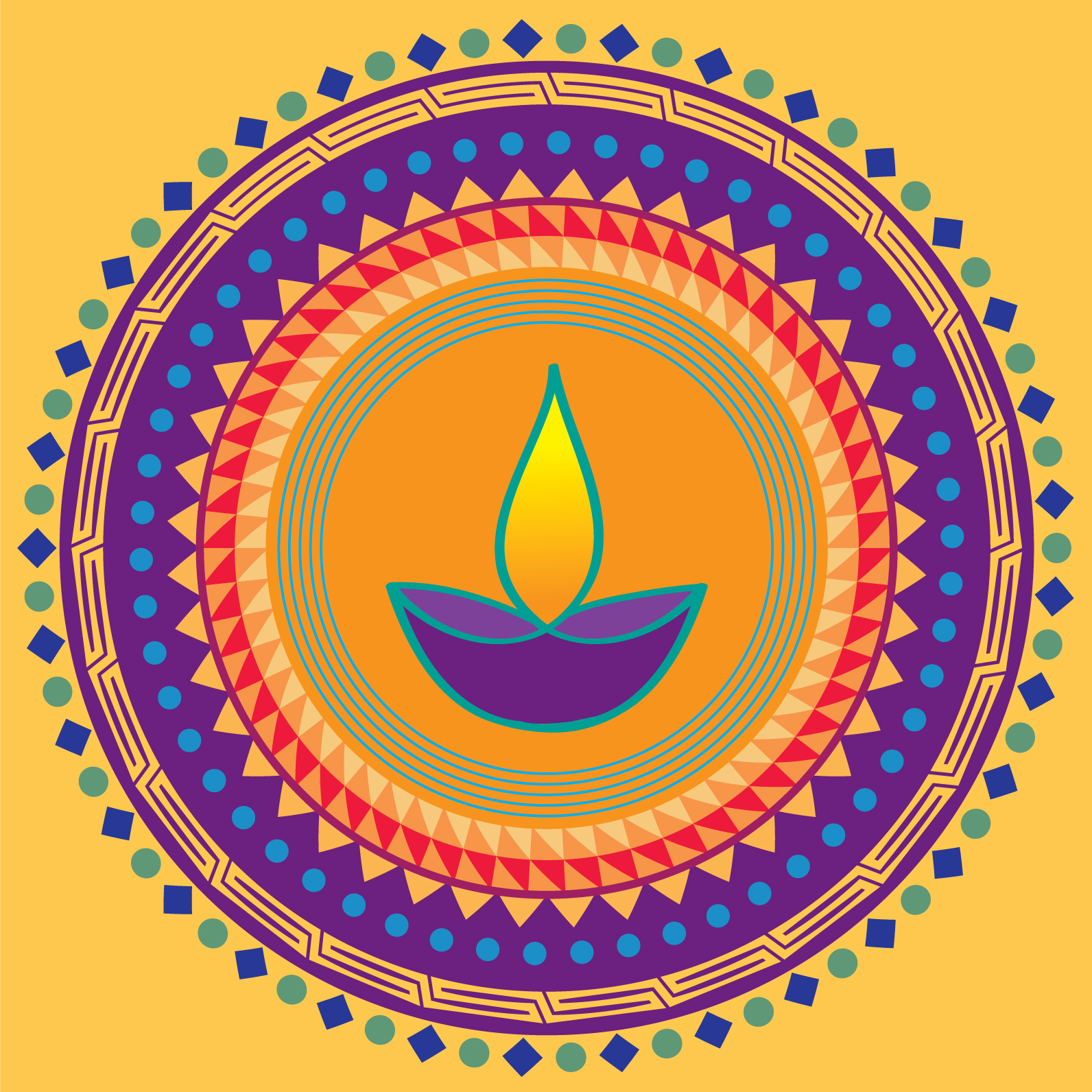 Diwali greeting card by Ananya