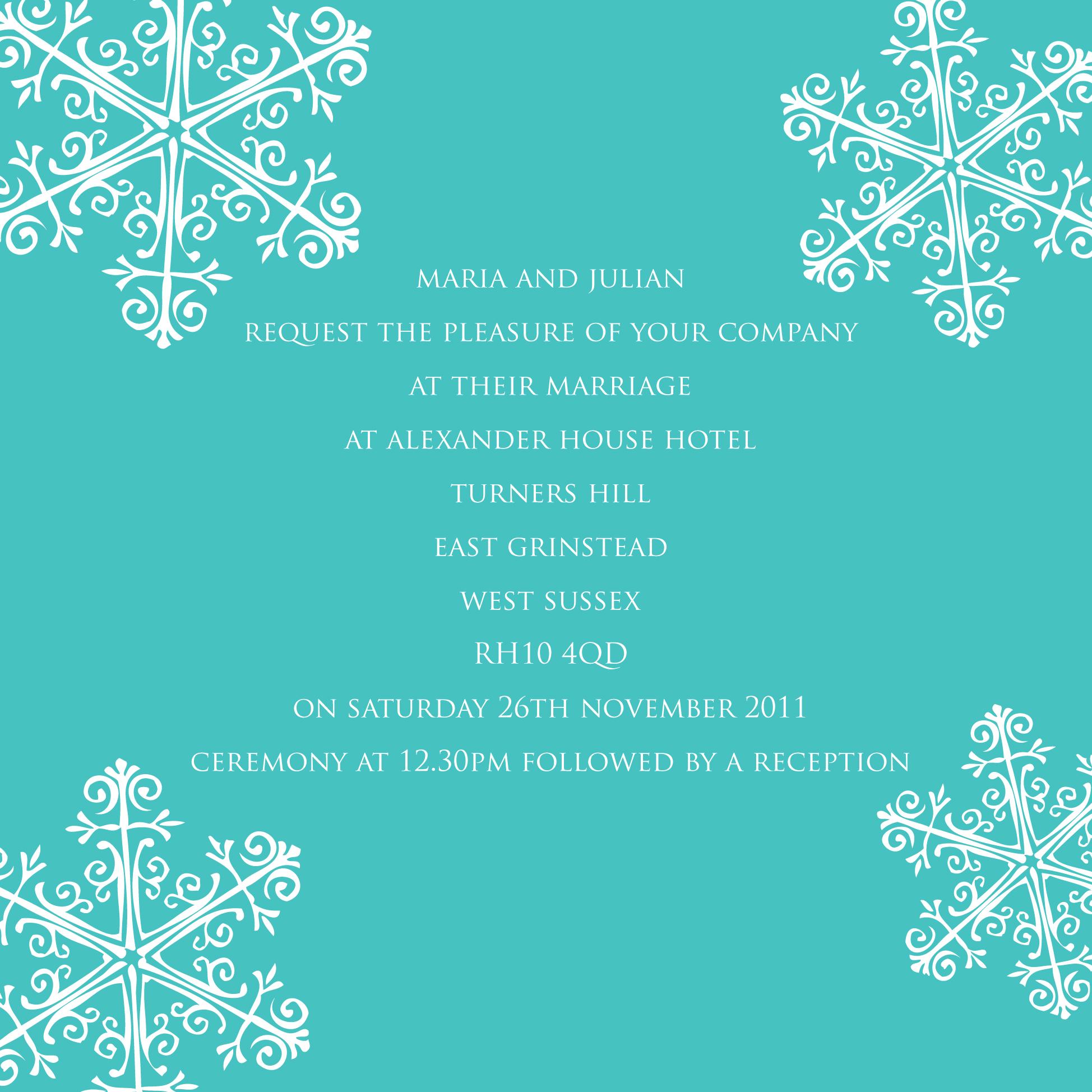 Winter Wonderland invitation by Ananya