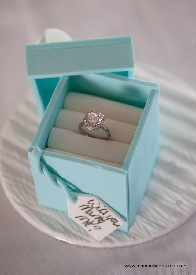 Proposal cake with diamond ringby GC Couture
