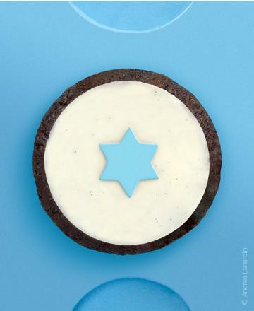 Star chocolate cupcake