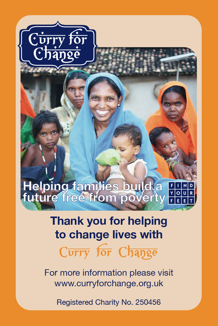 CURRY FOR CHANGE THANK YOU CARD