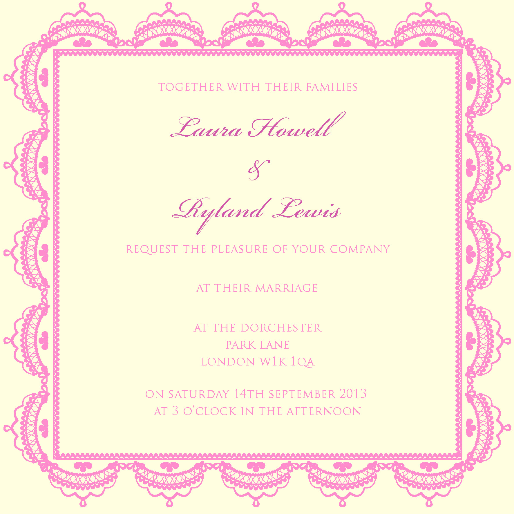 pretty lace wedding Invitation for autumn winter trends 2013