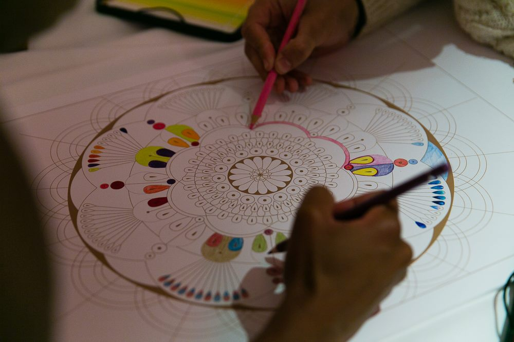 Creative juices flow as guests enter the world of colouring