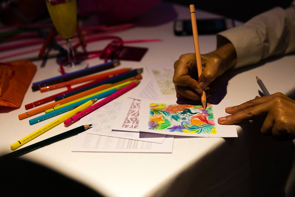 'Colour Me' event where colours, creativity and calm came together