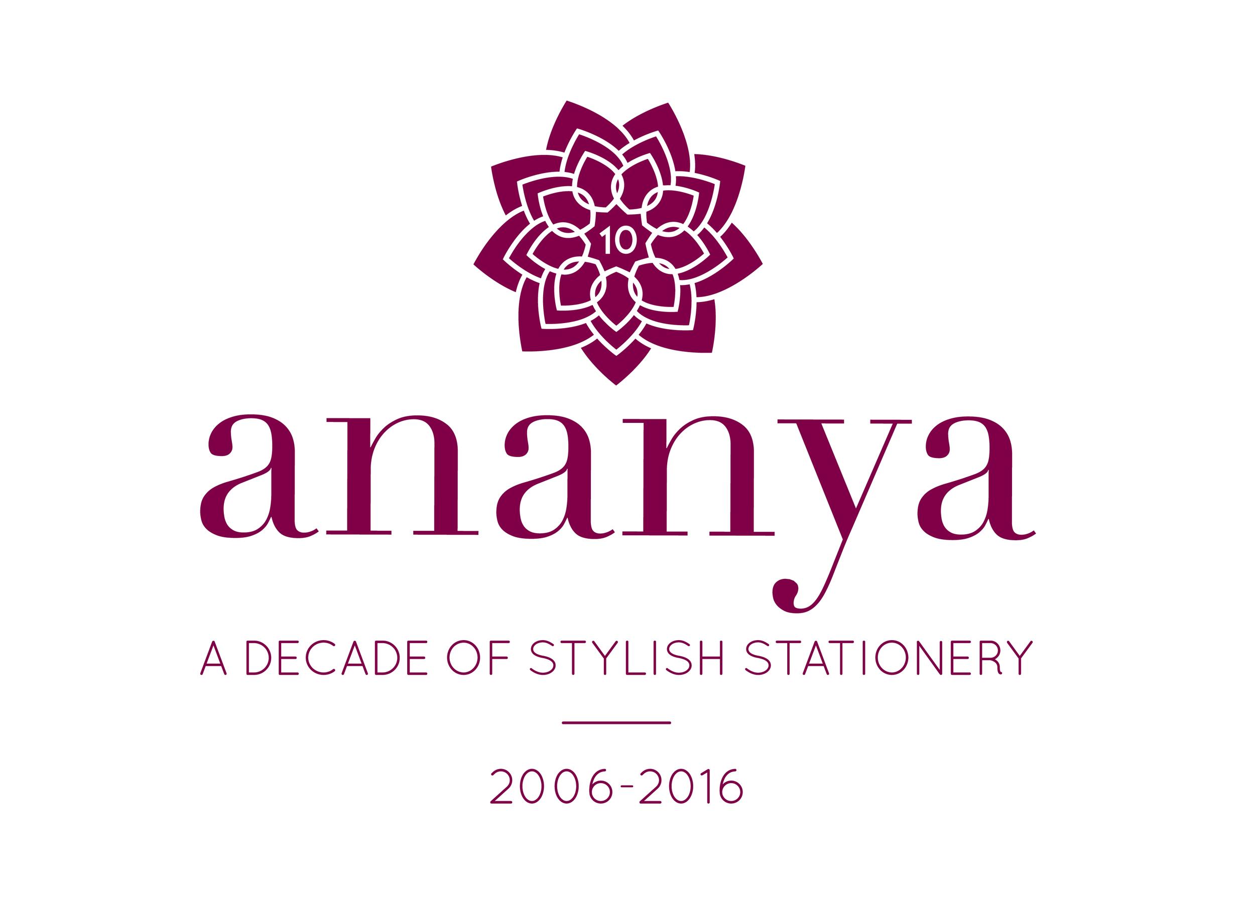 Logo celebrating 10 years of stylish stationery