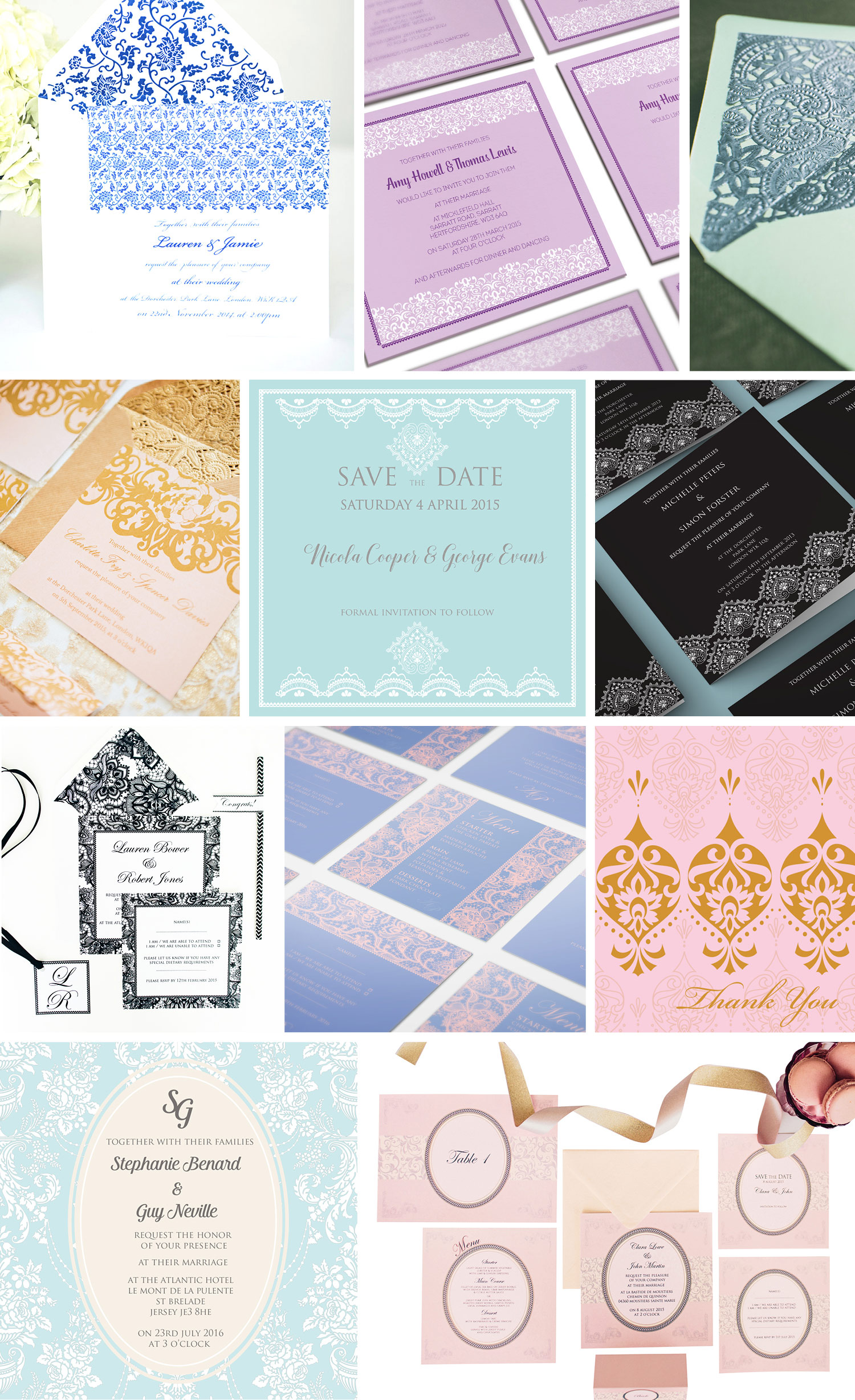 lace wedding invitations ananya