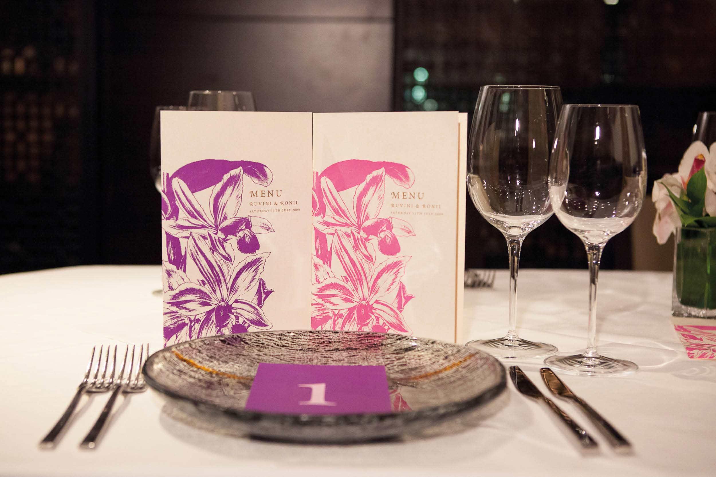 Orchid_wedding menu table setting_bespoke_ananyacards.com.jpg