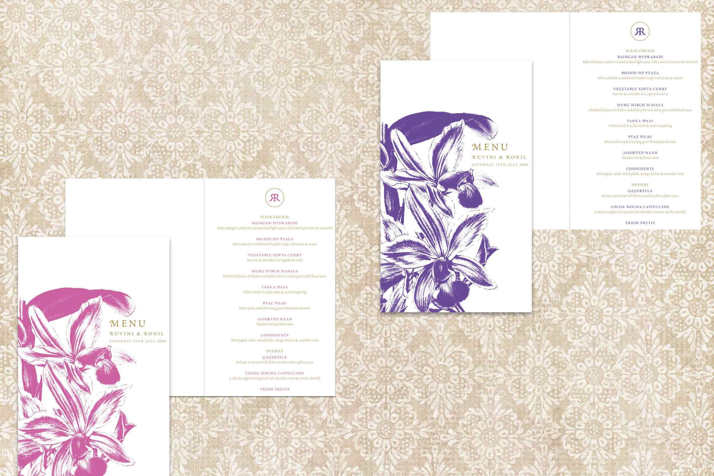 Orchid_wedding menus_bespoke_ananyacards.com.jpg