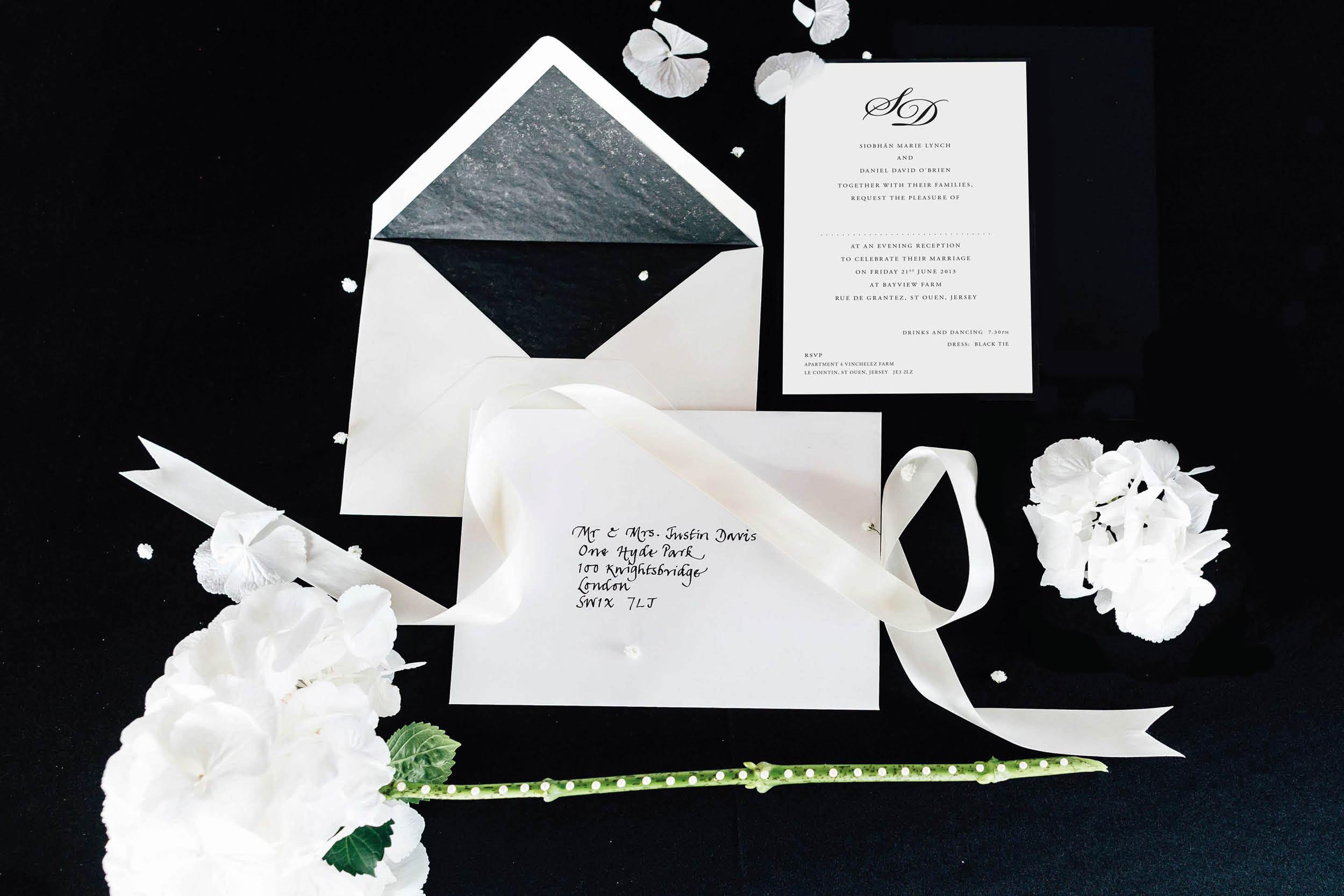 Monochrome_monogram evening wedding reception invitation_ananyacards.com.jpg
