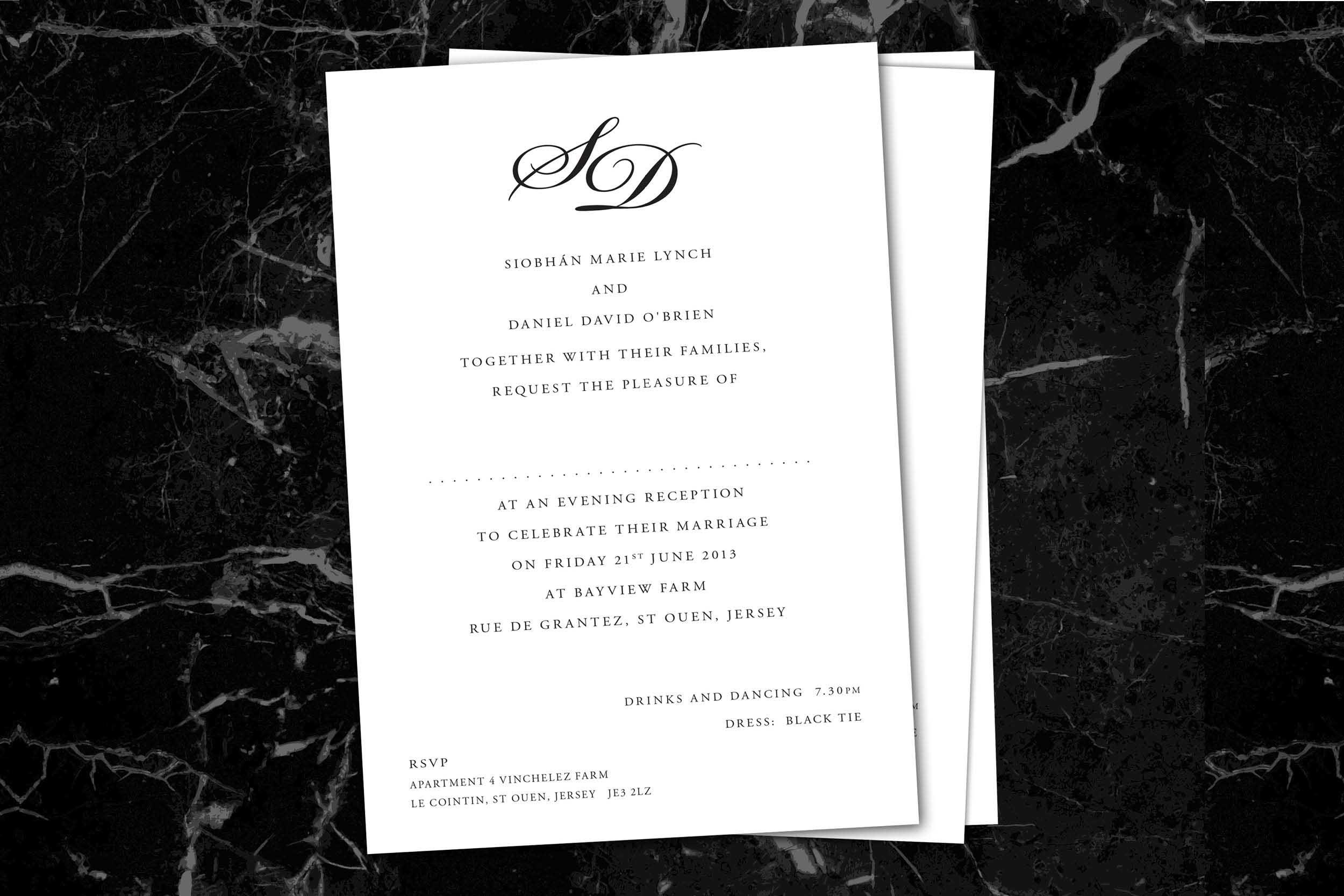 Monochrome_monogram evening wedding reception invitations_ananyacards.com.jpg